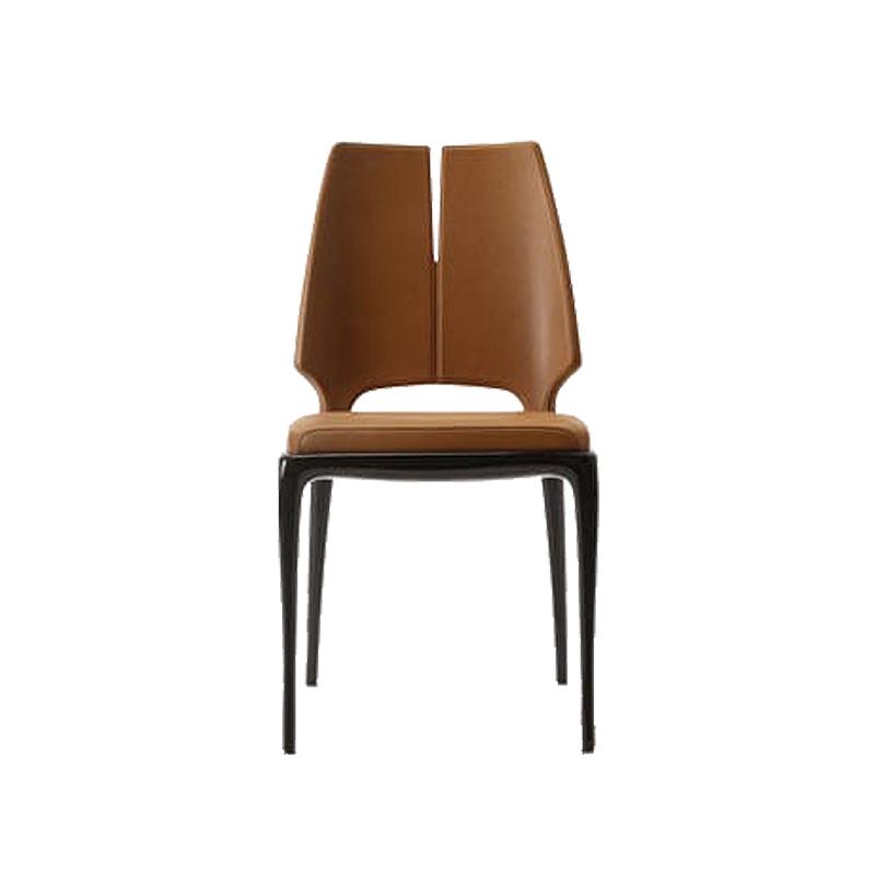 娅乔家具 餐椅  新 款新中式 实木 异形休闲椅 洽谈椅 布艺皮革定制 靠背椅