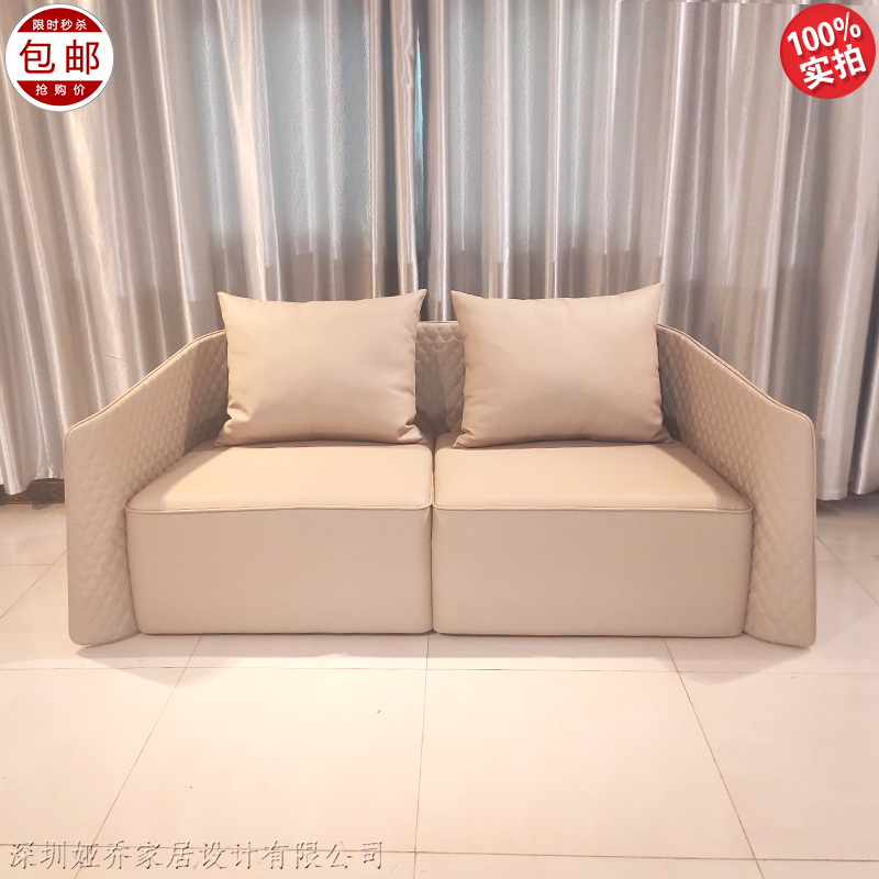 新款后现代轻奢宾利双人沙发欧式美式奢华客厅豪华别墅意式组合沙发