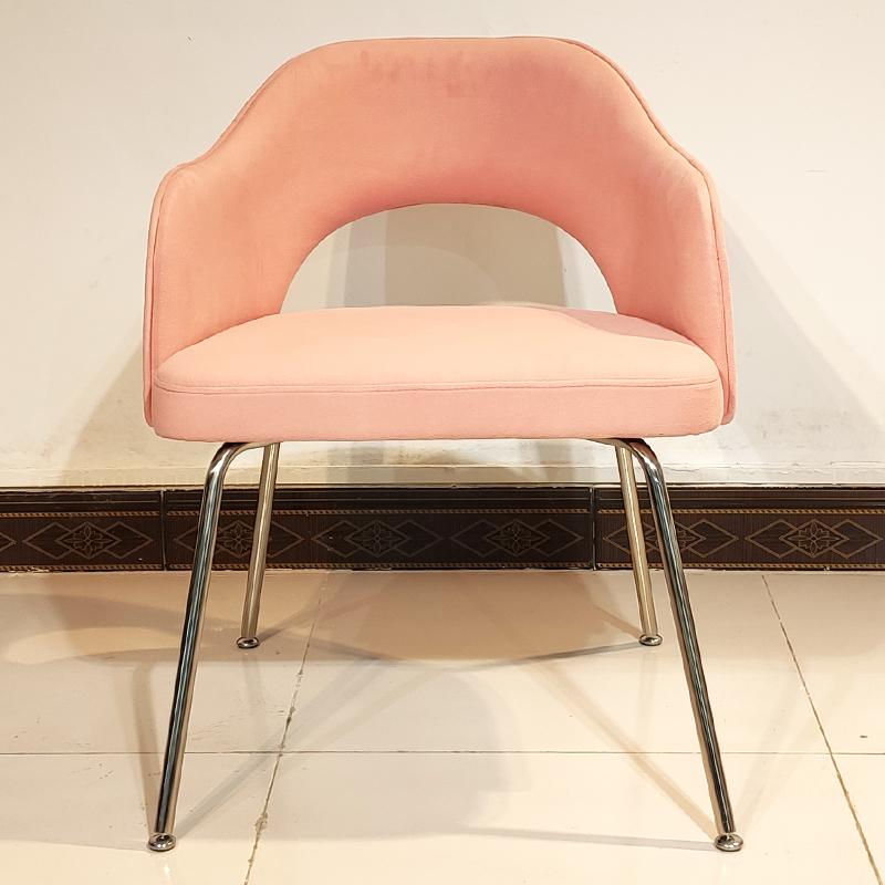沙里宁餐椅 Saarinen dining chair设计师设计 现代简约 不锈钢休闲椅 客厅 咖啡店 餐厅靠背椅