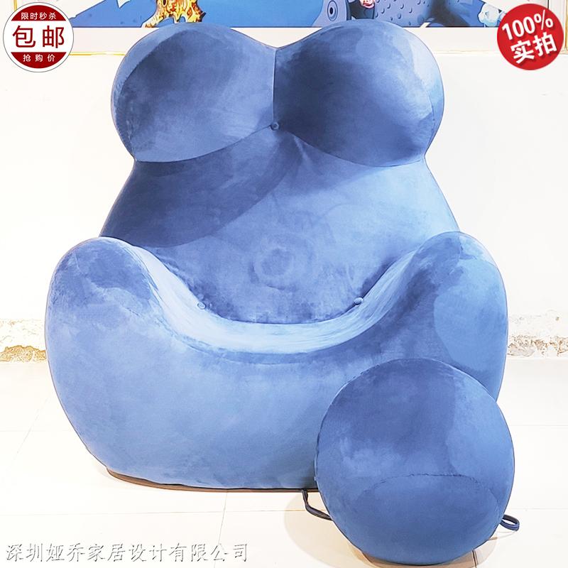 意式  玻璃钢休闲椅 极简轻奢风 设计师 母亲椅 家用商用样板房展厅单人沙发
