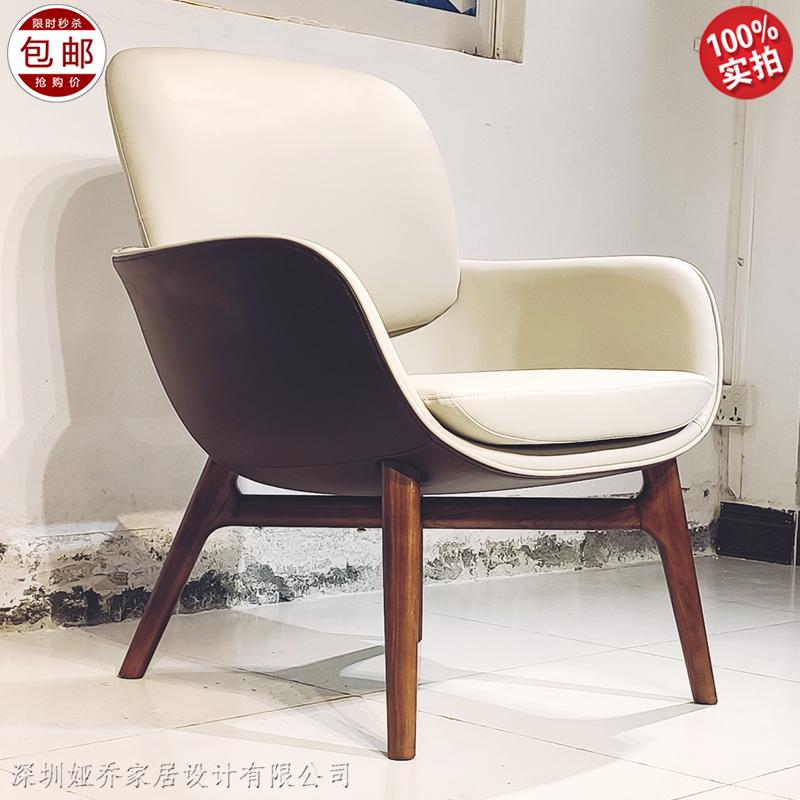 欧式 新款 简约现代 设计师休闲椅 布艺皮革定制家用 酒店餐厅样板房靠背椅 餐椅