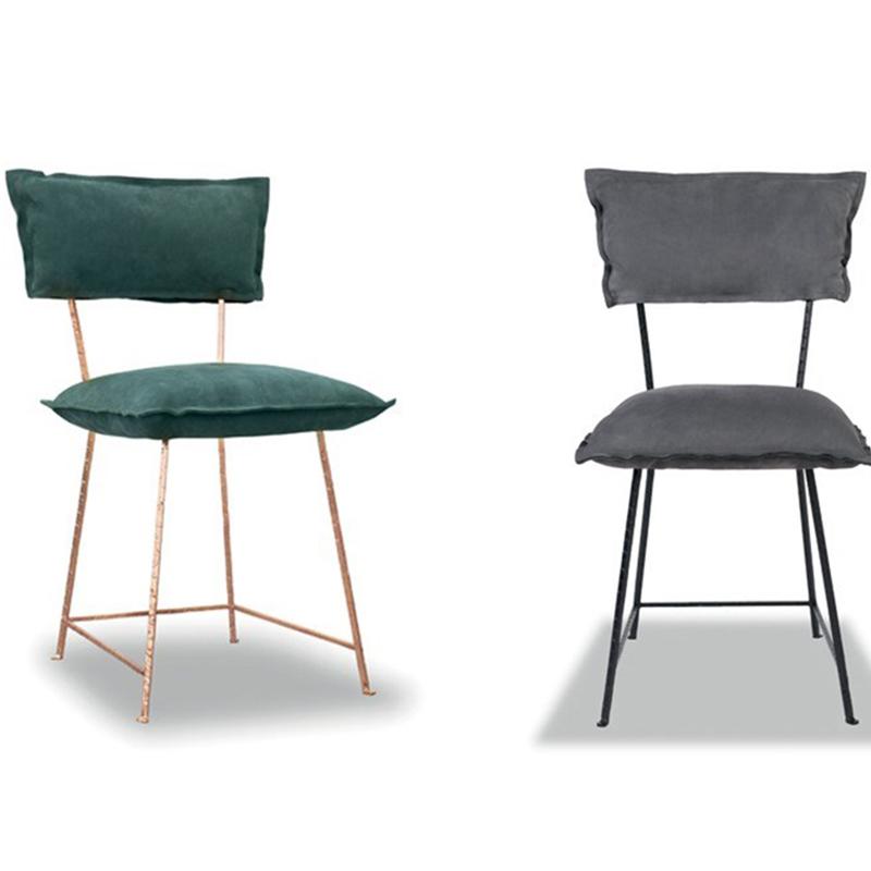 意大利 Baxter 不锈钢布艺皮革餐椅 现代简约设计师 定制家具 休闲椅 洽谈椅 酒店售楼样板房靠背椅