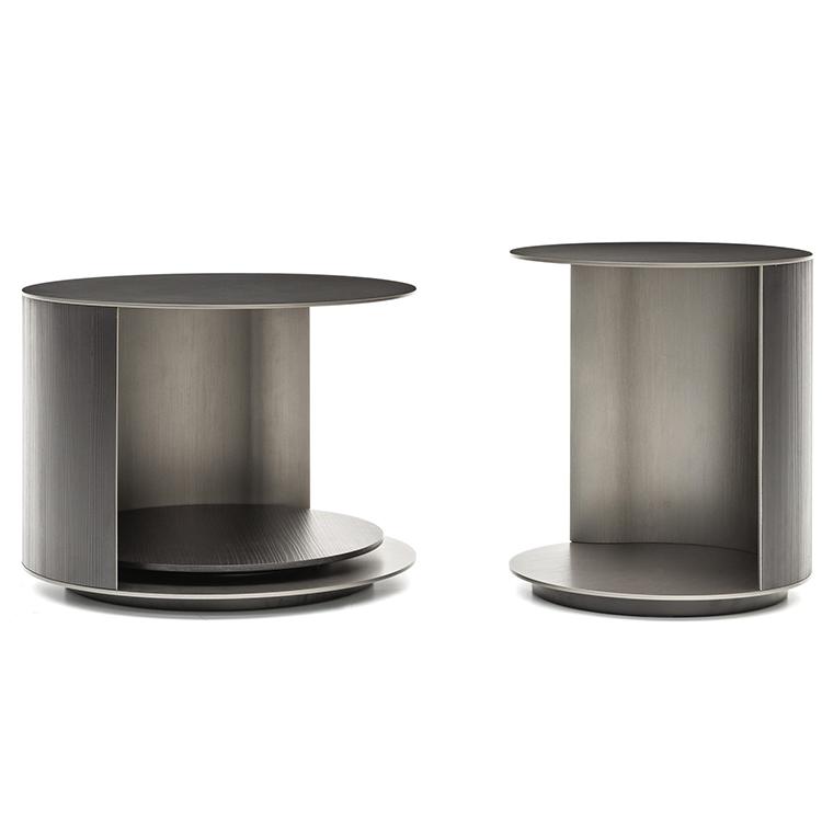 意大利 Minotti新款 轻奢家居定制 角几意大利后现代简约茶边几沙发背几 圆形椭圆形 RICHER Tea table