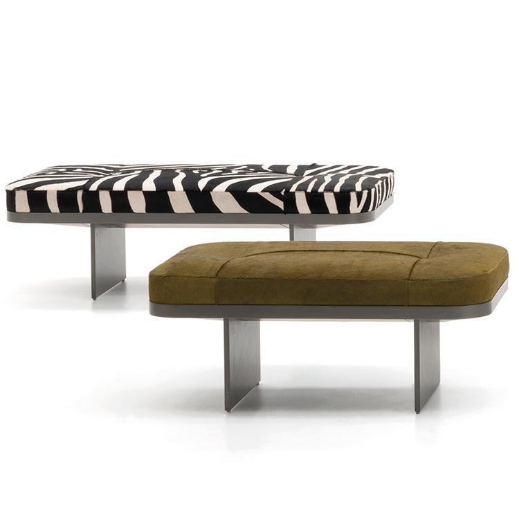 意式 Minotti款 轻奢个性设计师Rodolfo Dordoni 克莱夫板凳 金属床尾凳现代简约长凳定制