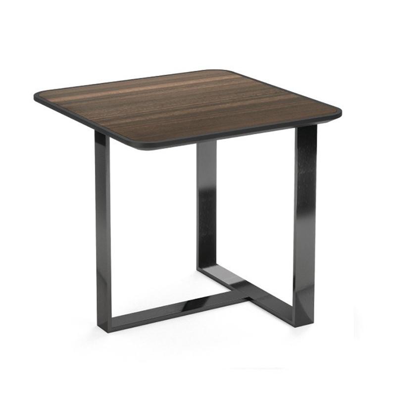 葡萄牙PRADDY PATROL table 巡更台 方形L脚不锈钢电镀 实木台面茶几桌子 美式loft 中式客厅