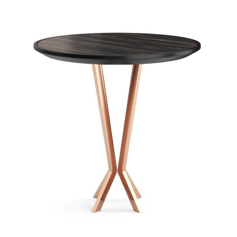 北欧风 轻奢极简 PRADDY PERFIDIA table 女性茶几 不锈钢电镀脚 实木/大理石 桌面 客厅酒店样板房边几角几