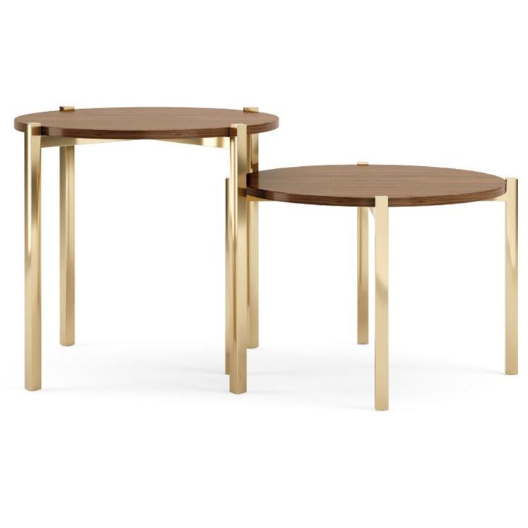 葡萄牙土豪金 PRADDY TIGER table 玫瑰金黄铜色拉丝亮光不锈钢电镀金实木烤漆厚漆
