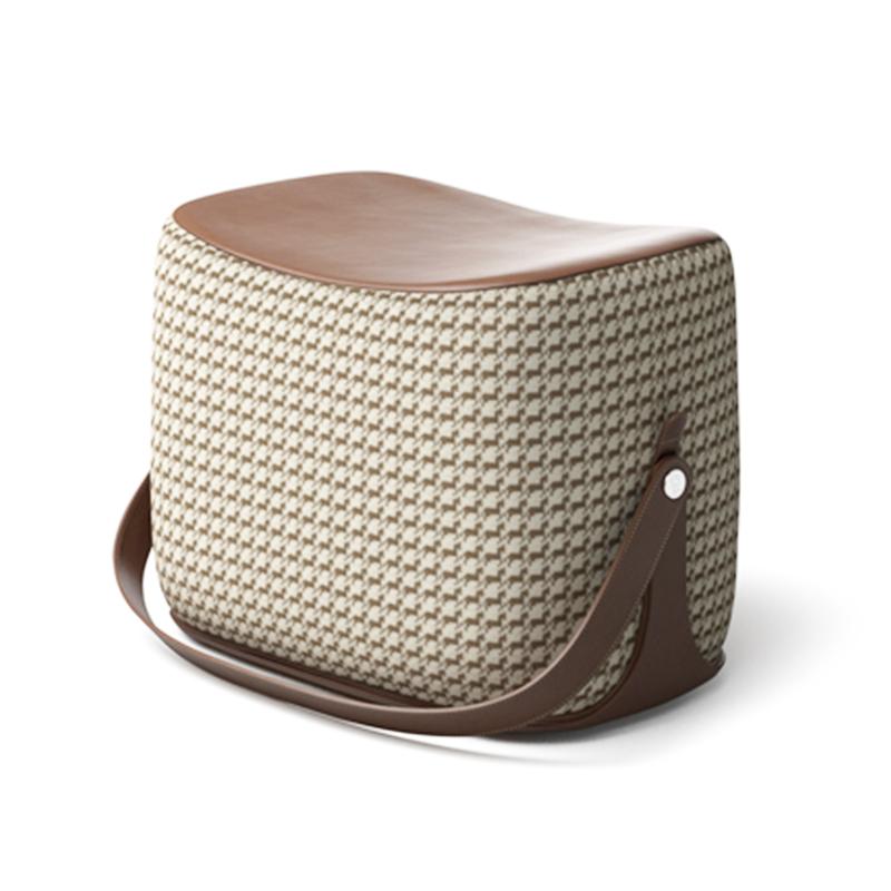 现代简约 设计师 Ottoman 坐凳  欧式 实木创意简约 便携式 手提马鞍矮凳 奥斯曼 脚凳