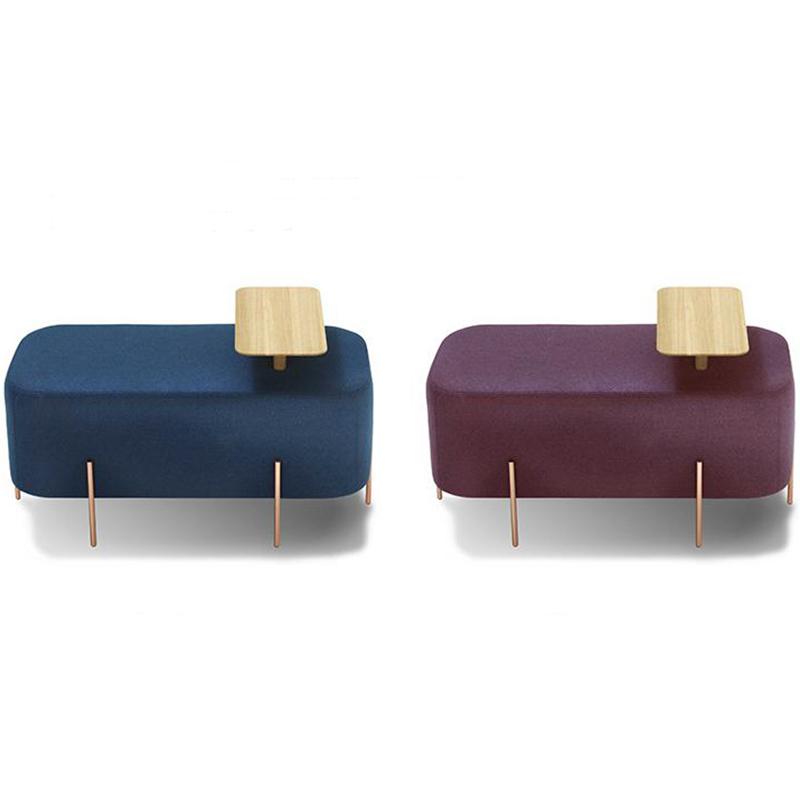 设计师 欧式 轻奢极简 沙发凳 elephant stool 客厅脚踏 服装店换鞋凳 长凳 矮凳