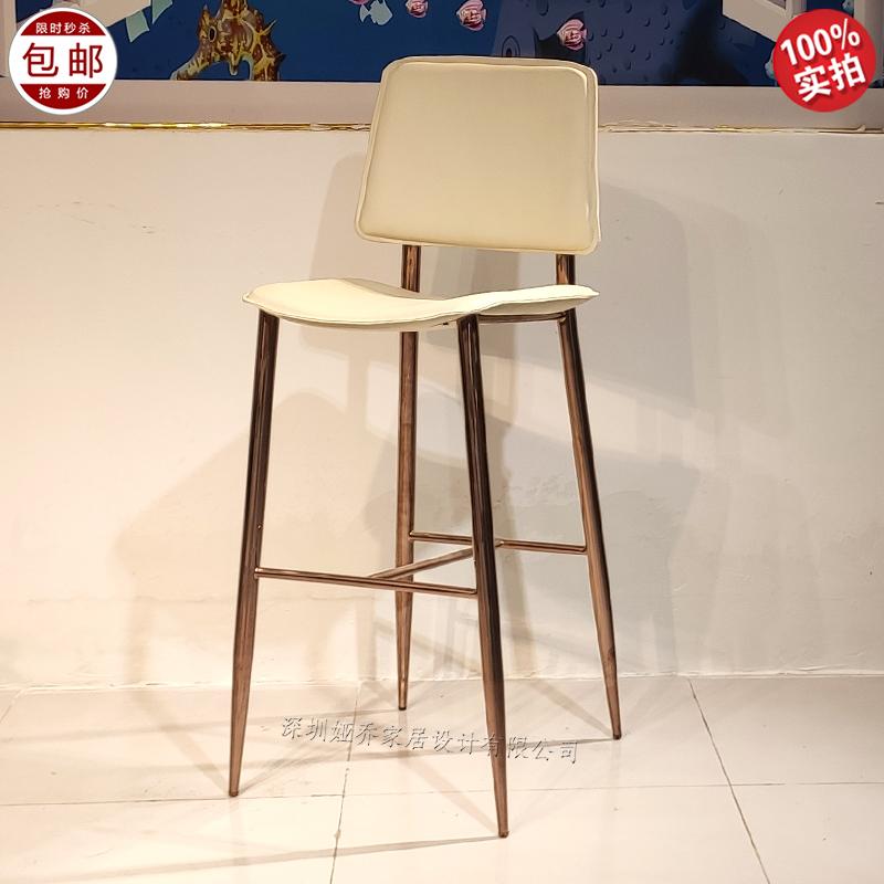 现代简约 Bar chair 不锈钢电镀古铜色 高脚吧椅 客厅 KTV 酒吧 High chair  酒店 咖啡店 奶茶店均适用