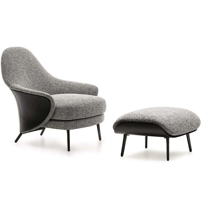 安吉 angie单人沙发椅 ANGIE By Minotti 客厅酒店会所 扶手椅 休闲椅 北欧 设计师