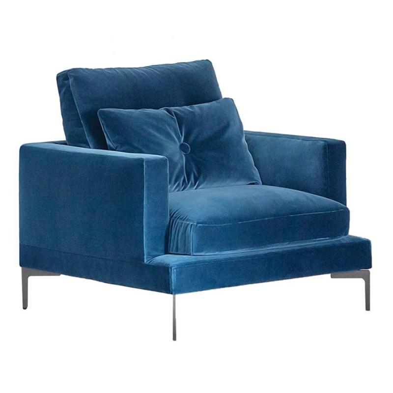 现代简约 轻奢不锈钢设计师 Sergio Bicego 意大利 Essentiel sofa chair 沙发椅 休闲椅
