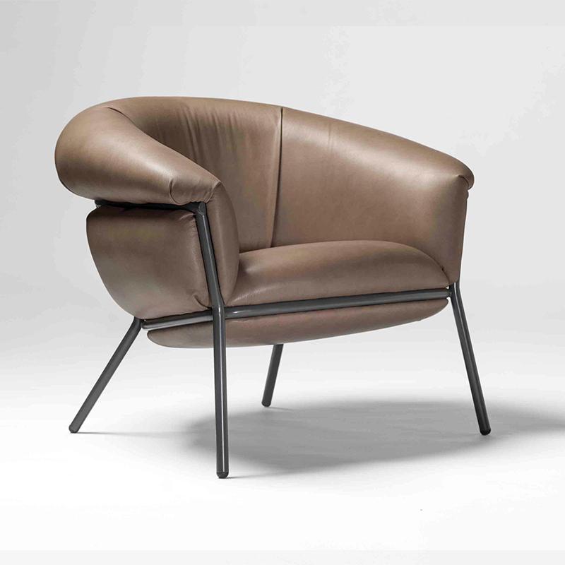 北欧 GRASSO sofa chair 沙发椅 轻奢复古懒人 客厅轻奢 单人扶手椅设计师 BD Barcelona Design 休闲椅
