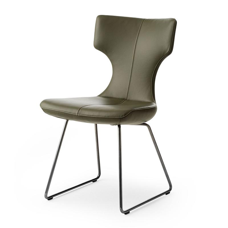 北欧布艺皮革软包定制 LX662-LX663-LX682系列 设计师餐椅 休闲椅