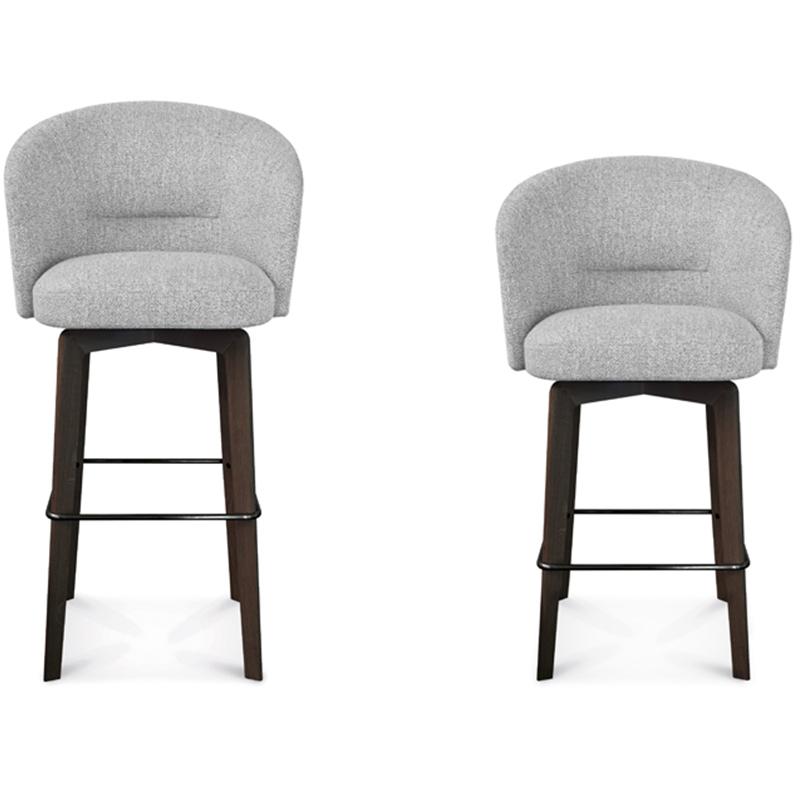 美式轻奢 Amélie 实木五金高脚椅 现代简约 吧台椅 酒吧椅The stool 北欧Minotti 不锈钢高脚椅