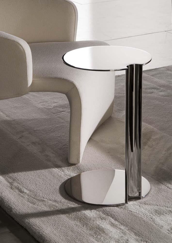 Minotti 意大利后现代 SULLIVAN 金属客厅北欧式沙发边 茶几角几边几