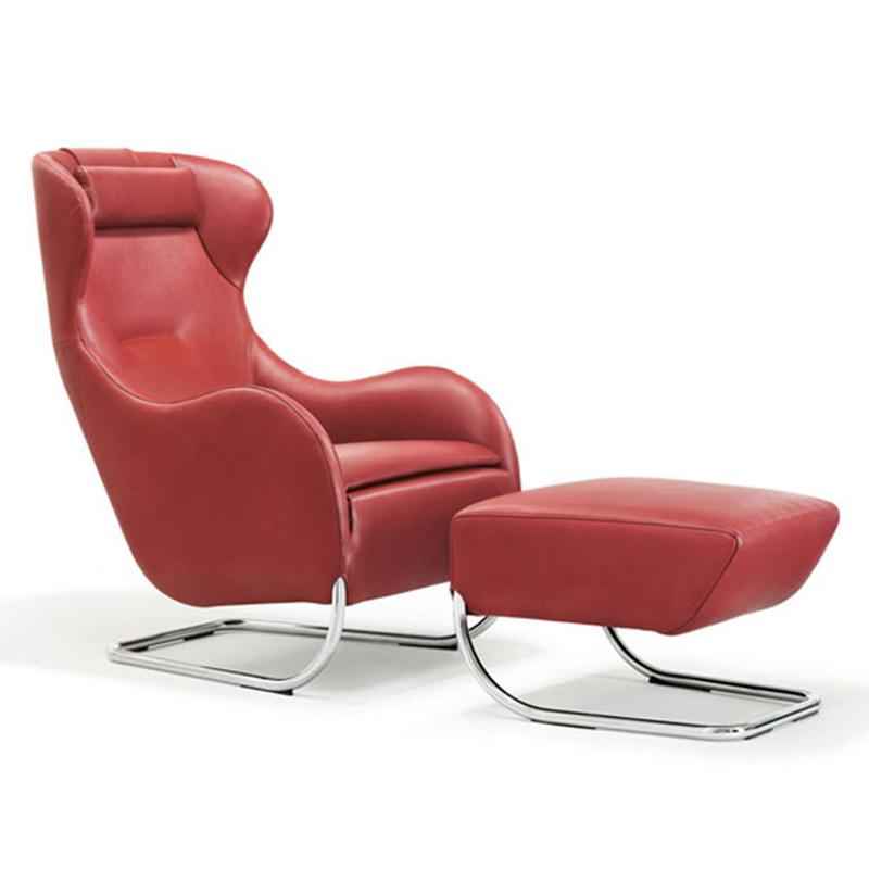 Wittmann不锈钢布艺皮革定制脚踏 现代简约轻奢 沙发边 客厅 休闲椅 卧室 床边凳 Jolly坐凳 吧凳 脚蹬