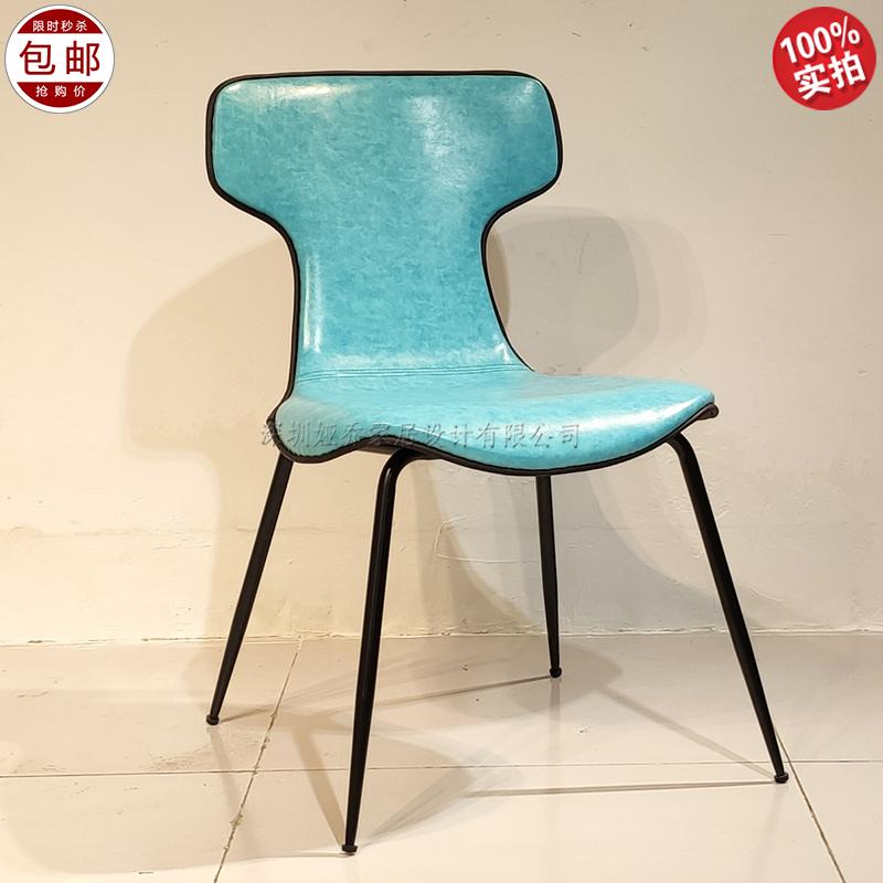 北欧设计师 简约现代 montera 蒙特拉餐椅 五金实木板内架 布艺皮革定制家具