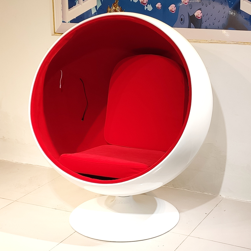 北欧设计师 玻璃钢  Ball Chair 太空椅 蛋壳椅 网红泡泡椅 沙发躺椅 蛋椅 阳台户外休闲椅