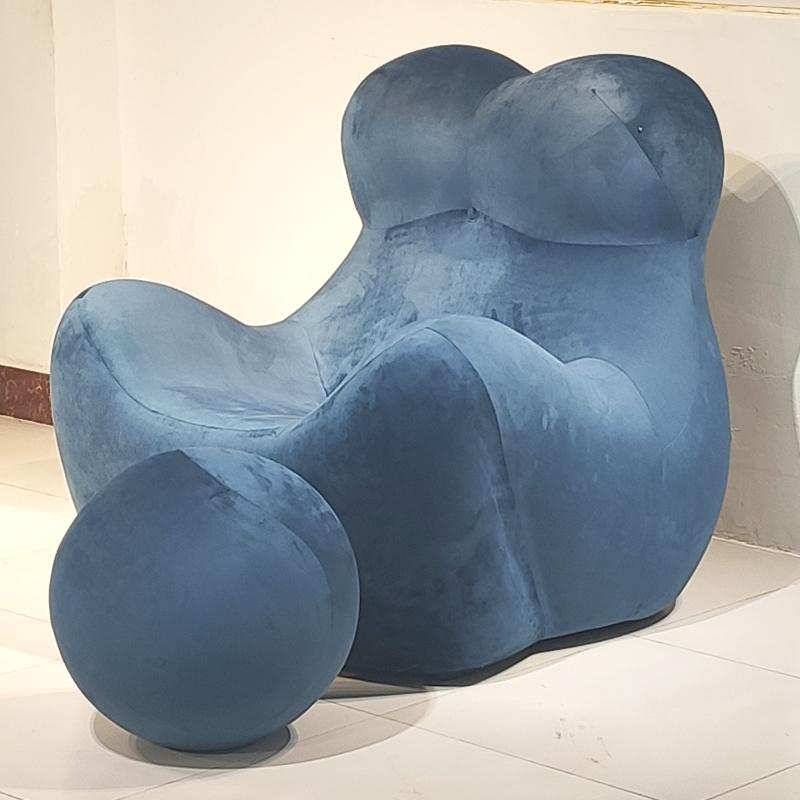 成人款  北欧 玻璃钢 网红椅 个性 休闲椅 创意可爱熊猫异型球椅 客厅酒店单人沙发