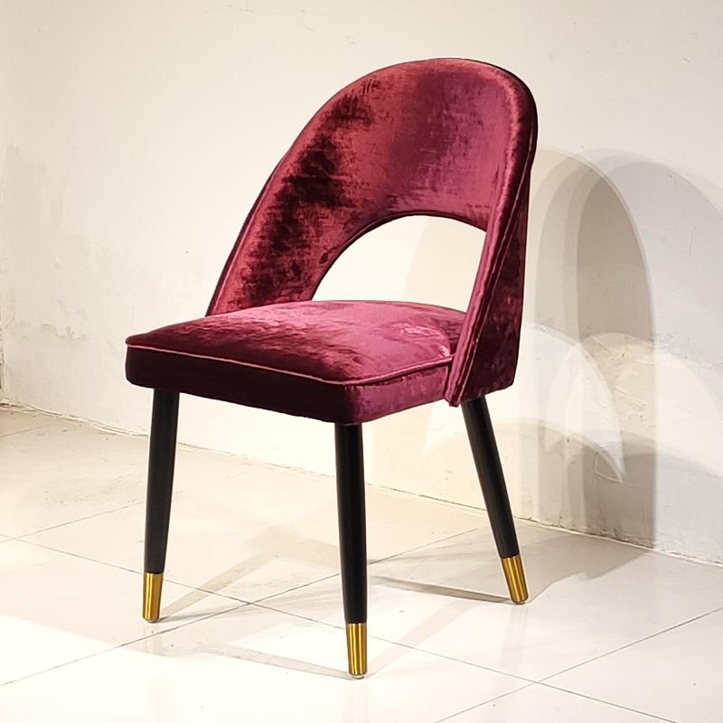 北欧轻奢餐椅家用商用设计师餐桌椅酒店椅子书房椅意式休闲椅