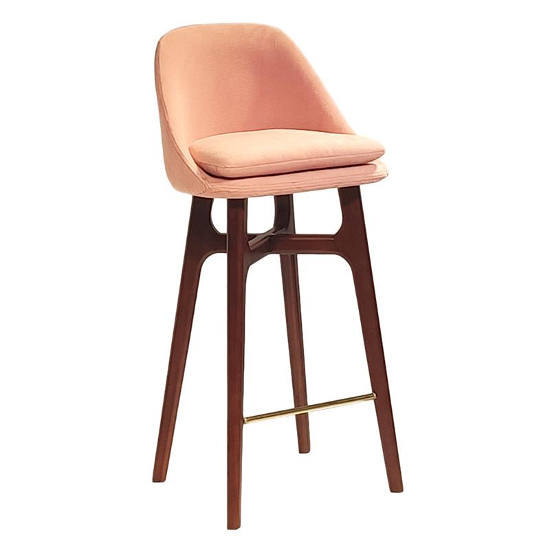 北欧现代简约设计师吧椅 个性创意 高脚吧椅 异形椅 水柳木定制 酒吧酒店餐厅咖啡奶茶店