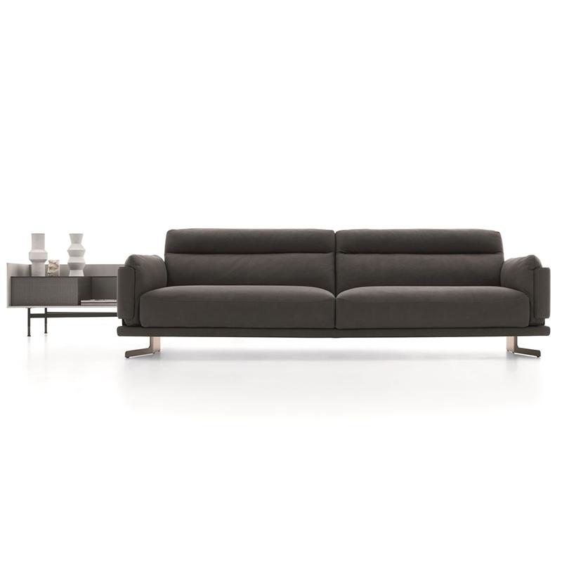 简约现代 轻奢不锈钢 布艺皮革 多人位沙发 客厅样板房 北欧 小户型组合定制家具