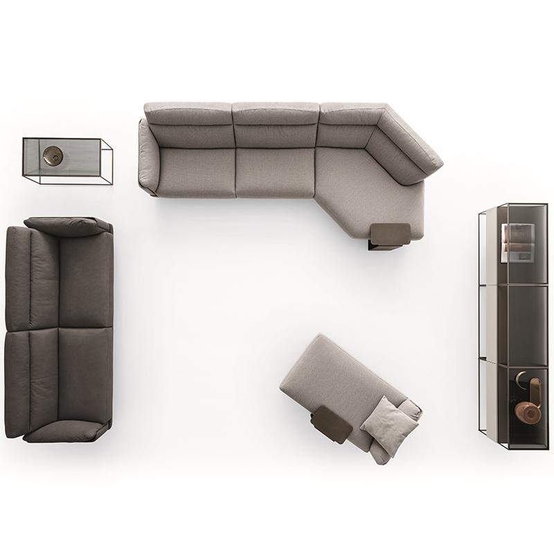 北欧高端定制 Ditre Italia 轻奢简约现代家具 娅乔yajoyr家具 客厅酒店会所样板房 SKIN  组合沙发 弧形沙发 多人位沙发