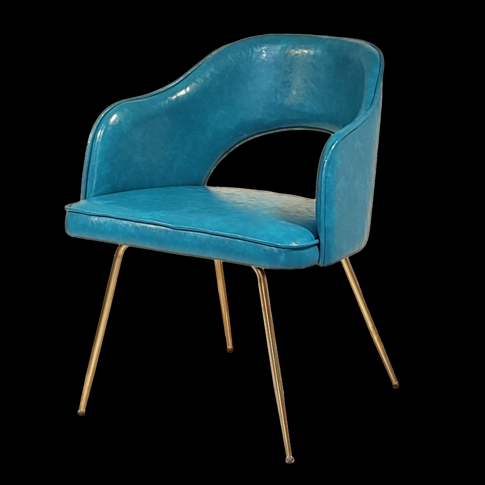 北欧设计师 沙里宁 餐椅 电镀金色脚 现代简约轻奢不锈钢客厅餐厅 餐桌椅定制