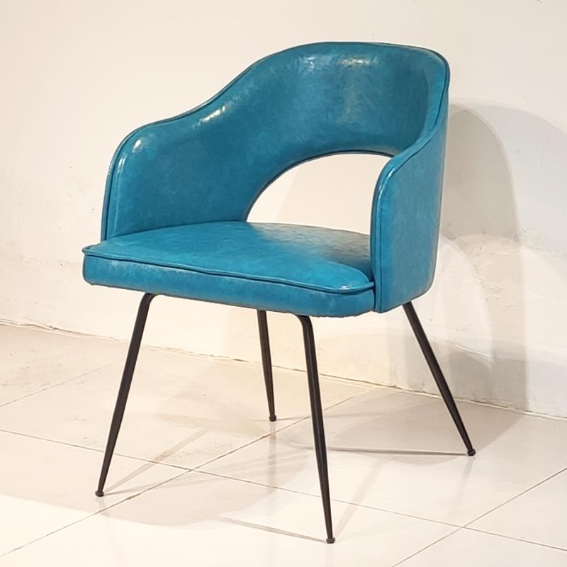 北欧设计师 沙里宁 餐椅 黑色油漆 现代简约轻奢不锈钢客厅餐厅 餐桌椅定制