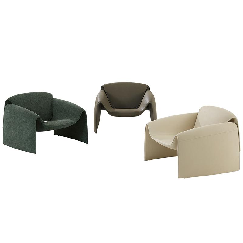 Poliform 设计师 Jean-Marie Massaud  北欧 玻璃钢  LE CLUB Sofa chair 后现代轻奢 休闲椅 意式沙发椅