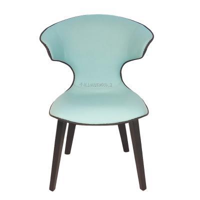 Montera Chair 蒙特拉椅子铁艺青色PU现代简约设计师椅 餐椅复古创意个性极简酒店公寓餐厅会所