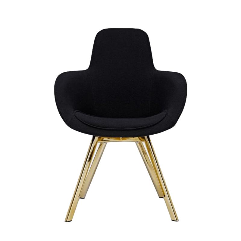 不锈钢电镀 北欧 布艺皮革靠背椅 家用餐厅酒店 餐椅 别墅会所样板房 休闲椅