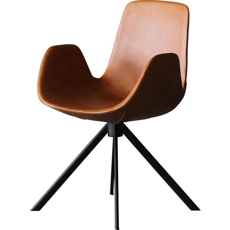 现代简约 工业风 客厅餐椅 铁艺咖啡休闲椅 极简 轻奢靠背椅 书桌酒店洽谈椅