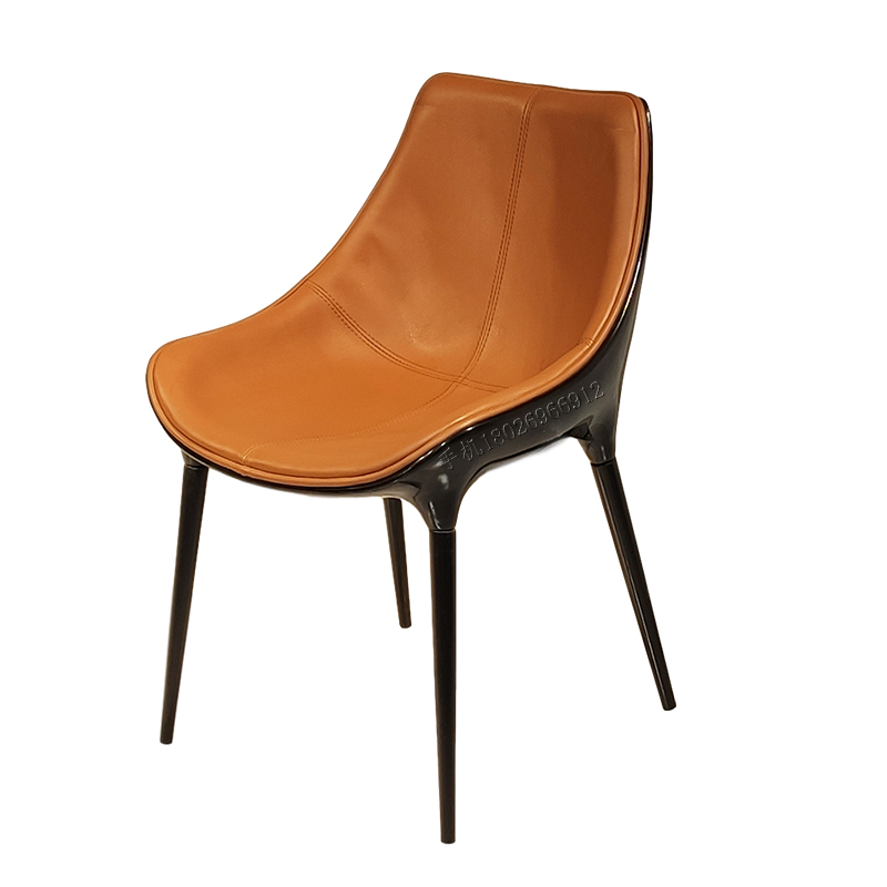 意大利 DIANA  chair 设计师北欧椅子意式极简现代简约轻奢真皮餐椅书椅
