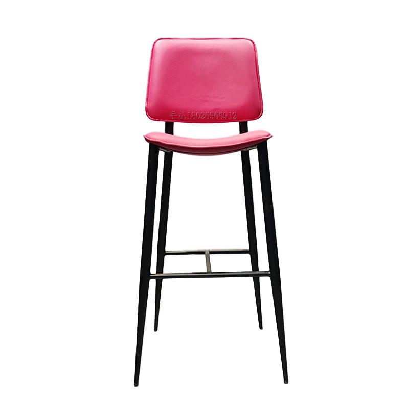 不锈钢铁黑定制 布艺皮革软包坐垫靠垫 现代简约 轻奢风 餐厅 奶茶店 会所 酒吧 吧椅高脚吧椅
