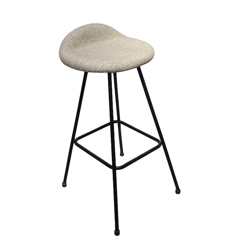 铁艺烤漆 不锈钢电镀 高脚吧椅 高脚凳 客厅 奶茶店 网红店 设计师吧椅