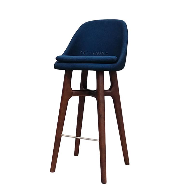 玻璃钢 实木高脚吧椅 布艺皮革软包定制 户外 奶茶店 酒吧样板房
