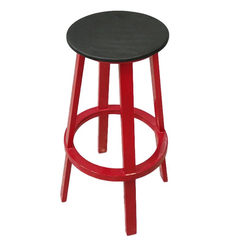 铁黑异形圆形定制高脚 吧椅 极简轻奢 不锈钢油漆 吧台 会所 奶茶店 咖啡店网红店吧台椅