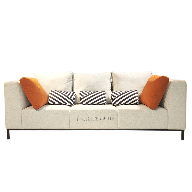 北欧风格轻奢后现代网红简约工业极简布艺大小户型设计师客厅沙发