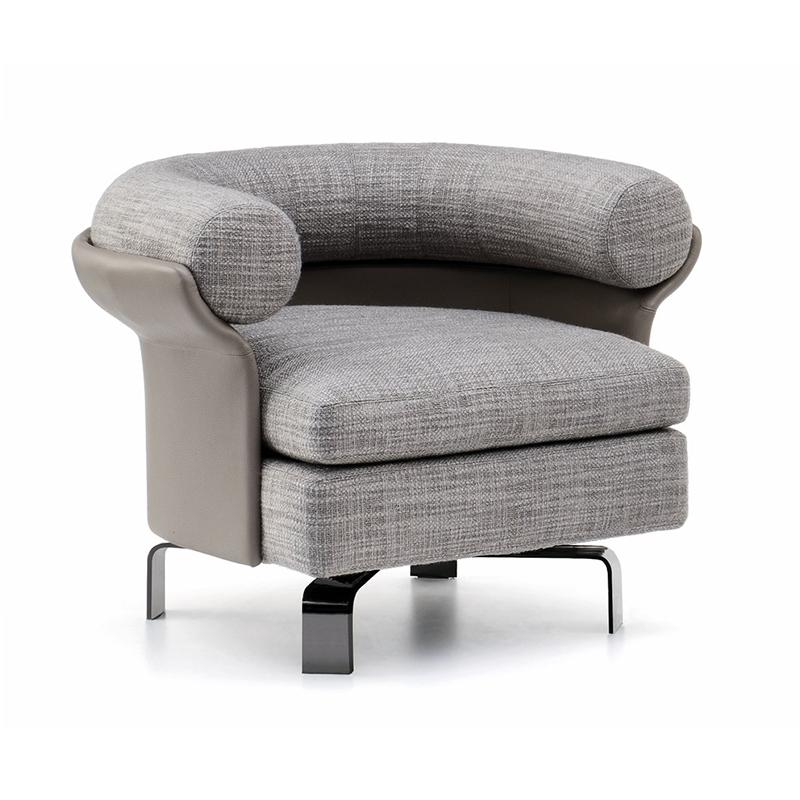 意大利 Minotti 设计师 Mattia 沙发椅 酒店样板房客厅 简约现代 休闲椅