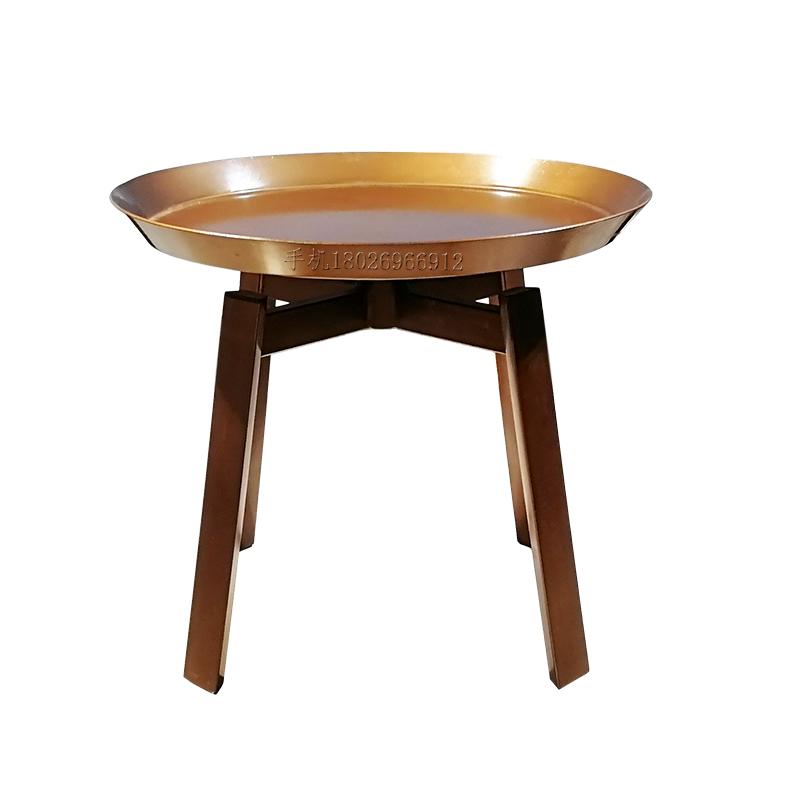 北欧设计师 Round tea table 定制 现代简约 五金烤漆 可旋转盘面 家用商用样板房摆放