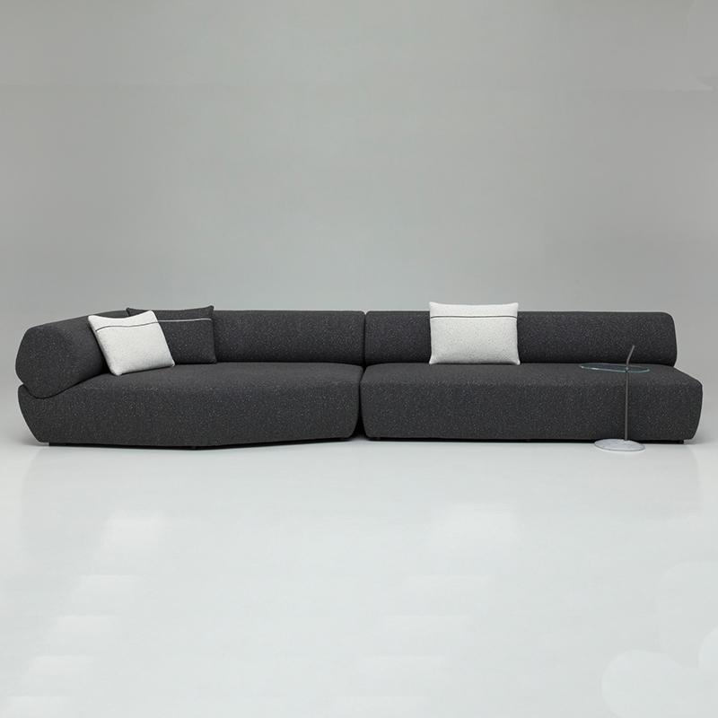 B&B Italia 意式 现代简约 布艺皮革定制 NAVIGLIO sofa 客厅酒店会所样板房定制 多人位沙发