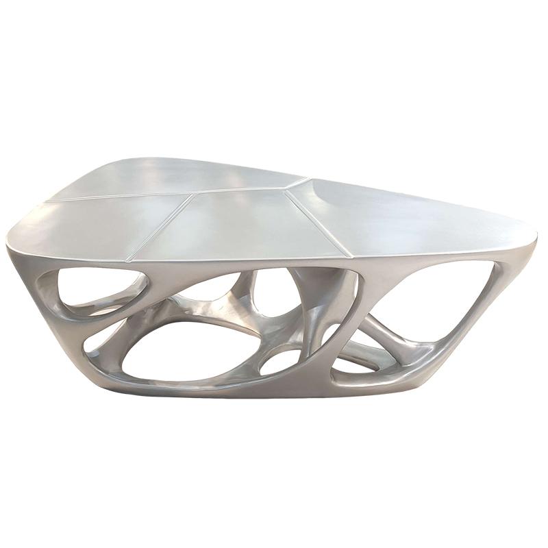 意式极简 后现代 设计师茶几 玻璃钢定制 客厅酒店样板房 扎哈哈迪德Zaha· hadid 异形茶几 Glass steel coffee table