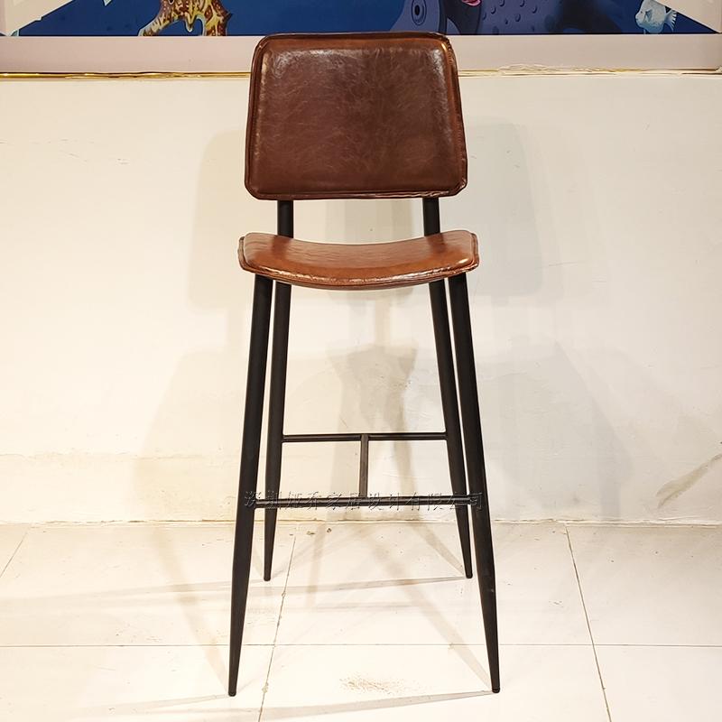 意式 简约现代 不锈钢 High chair  吧椅 客厅酒店会所样板房  Bar chair 酒吧椅