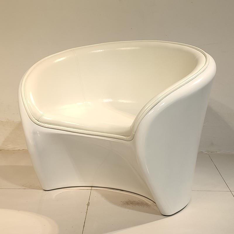 售楼处商场接待洽谈椅 现代简约 玻璃钢 休闲椅 会客商务休闲区沙发