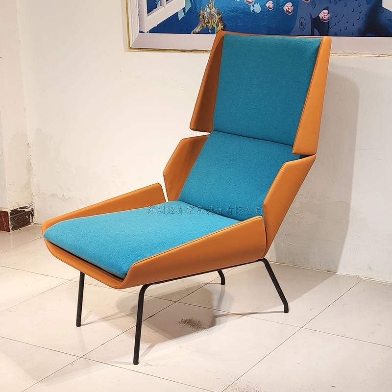 设计师 休闲椅 意式 简约现代 轻奢不锈钢  沙发椅 布艺皮革定制家具