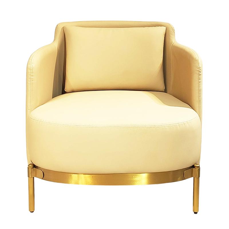 意式  minotti款 现代简约 轻奢不锈钢定制 单人沙发 客厅酒店别墅样板房 休闲椅