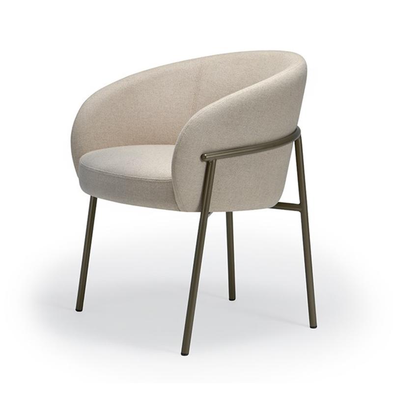 简约平背餐椅 休闲椅 设计师 Rimo Chair 单椅 咖啡厅餐椅客厅椅 简约现代定制家具