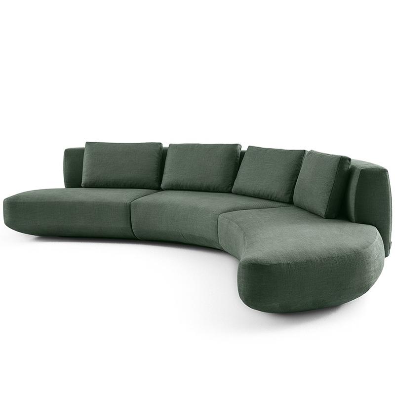 Gallotti&Radice 后现代 AUDREY MOTION  意式简约风格 弧形 客厅酒店大堂样板房 商业空间 设计师 多位沙发人